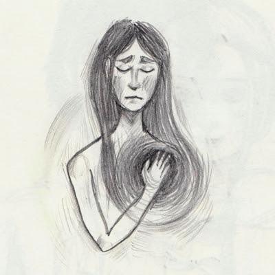Skizze Herzschmerz