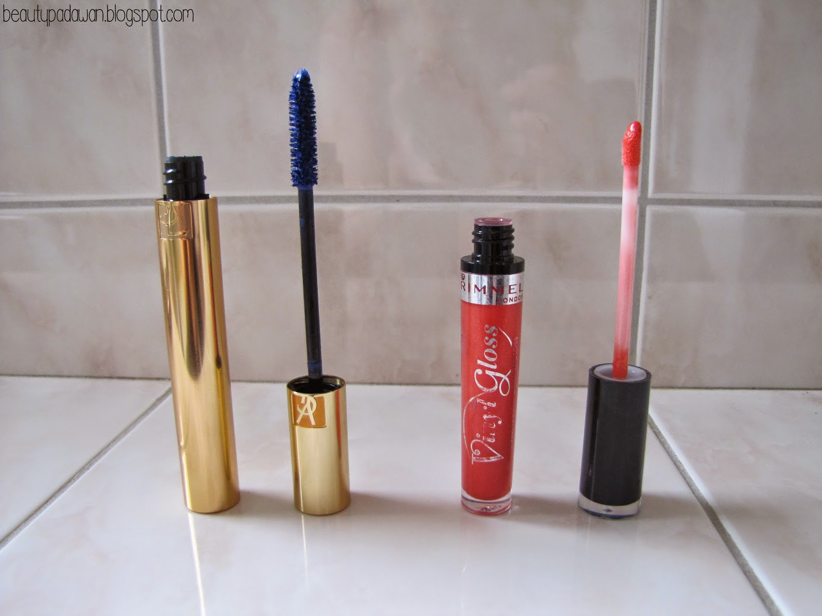 "Yves Saint Laurent Mascara Volume Effet Faux Cils - ""Blue""; Rimmel Vinyl Gloss"