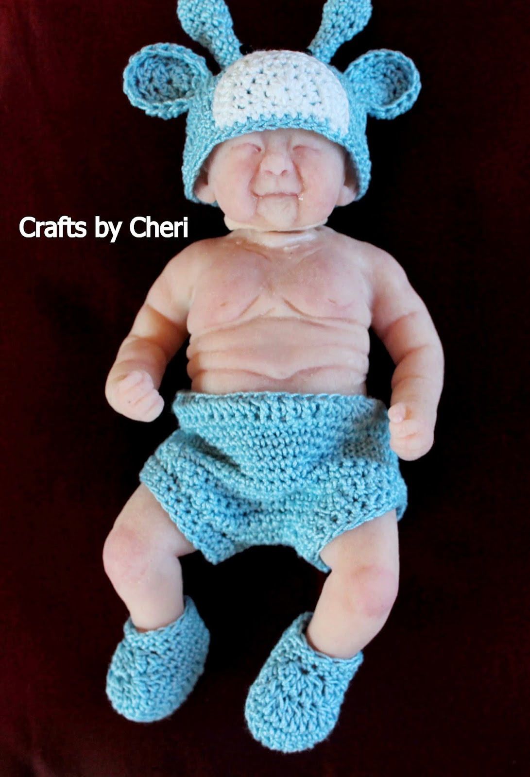 Cheri 39 s crochet baby or reborn baby doll clothing or for 5 inch baby dolls for crafts