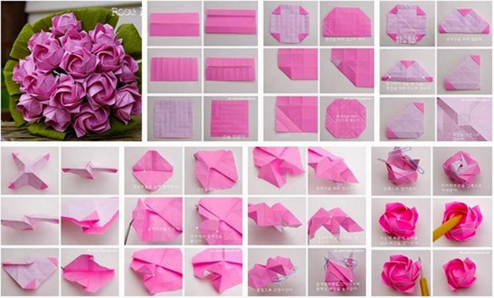 rose origami instructions