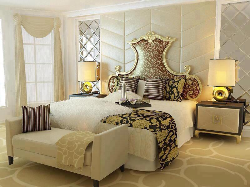 2 beaux id es pour les chambres a couch es int rieur for Decoration 3d model free download