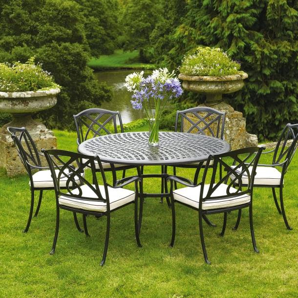 ACHICA Naunton Manor Barcelona 6 Seater Round Set