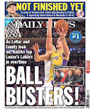 "Knicks inspire ""Ball Busters"" near-headline convergence"