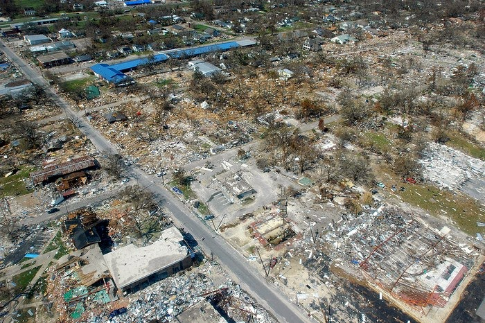 Gulfport, Mississippi after Hurricane Katrina