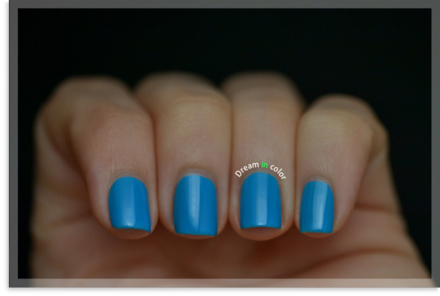 China Glaze DJ blue my mind