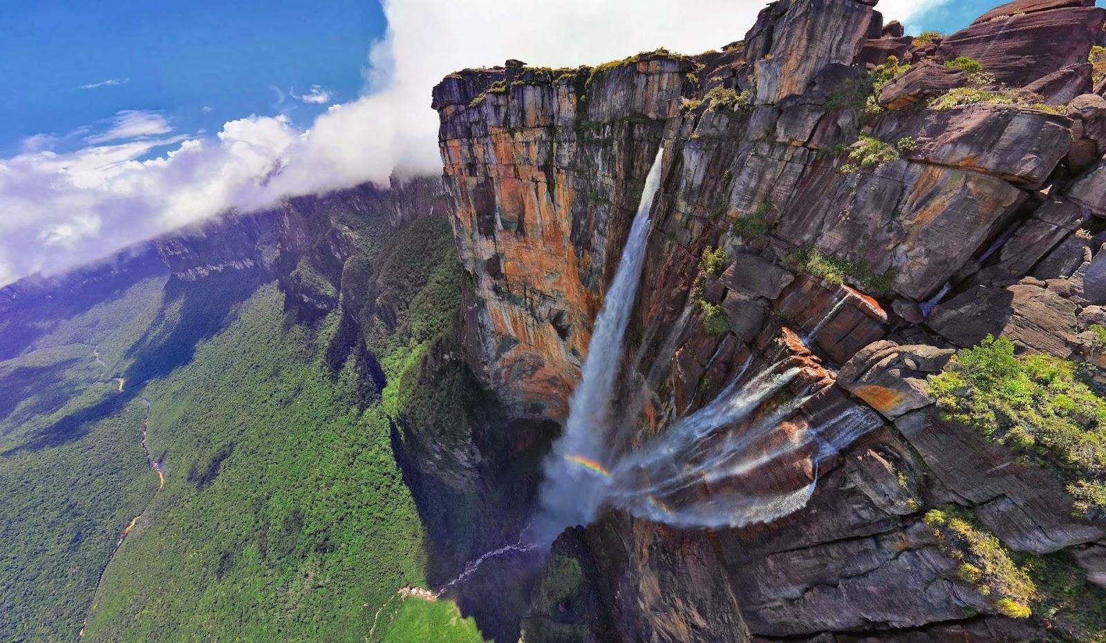 gambar Keajaiban Dunia Angel Falls