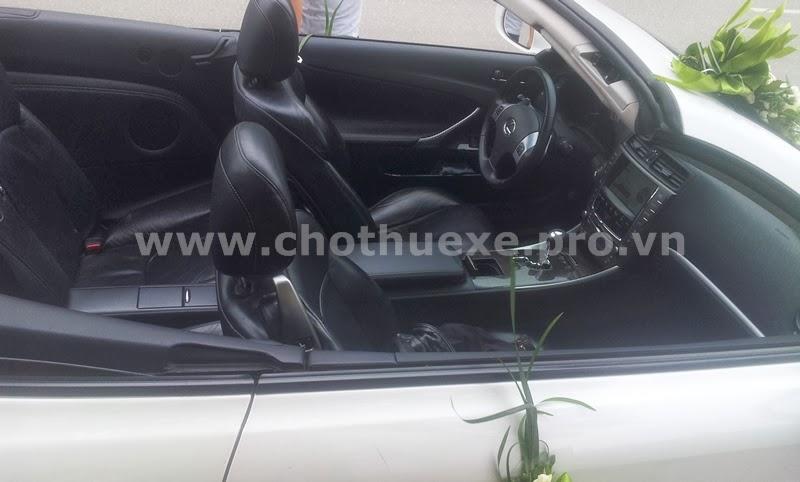 Cho thuê xe cưới Lexus IS250C mui trần màu trắng 1