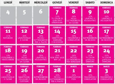 Da febbraio a inizio marzo tutti i giorni degli sconti nel volantino Supermedia