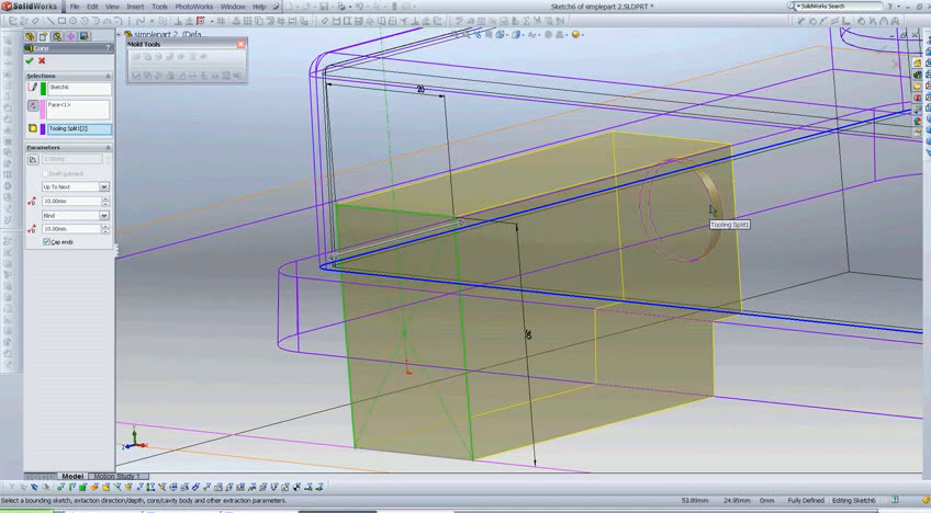 How to Create a Mold in SolidWorks 2010 - SolidWorks Share