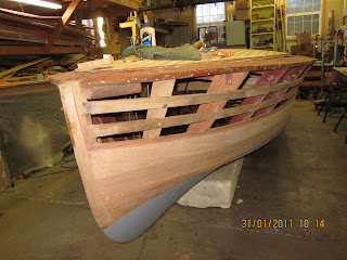 Mccall boat works chris craft racing runabouts 19 39 for Chris craft boat restoration