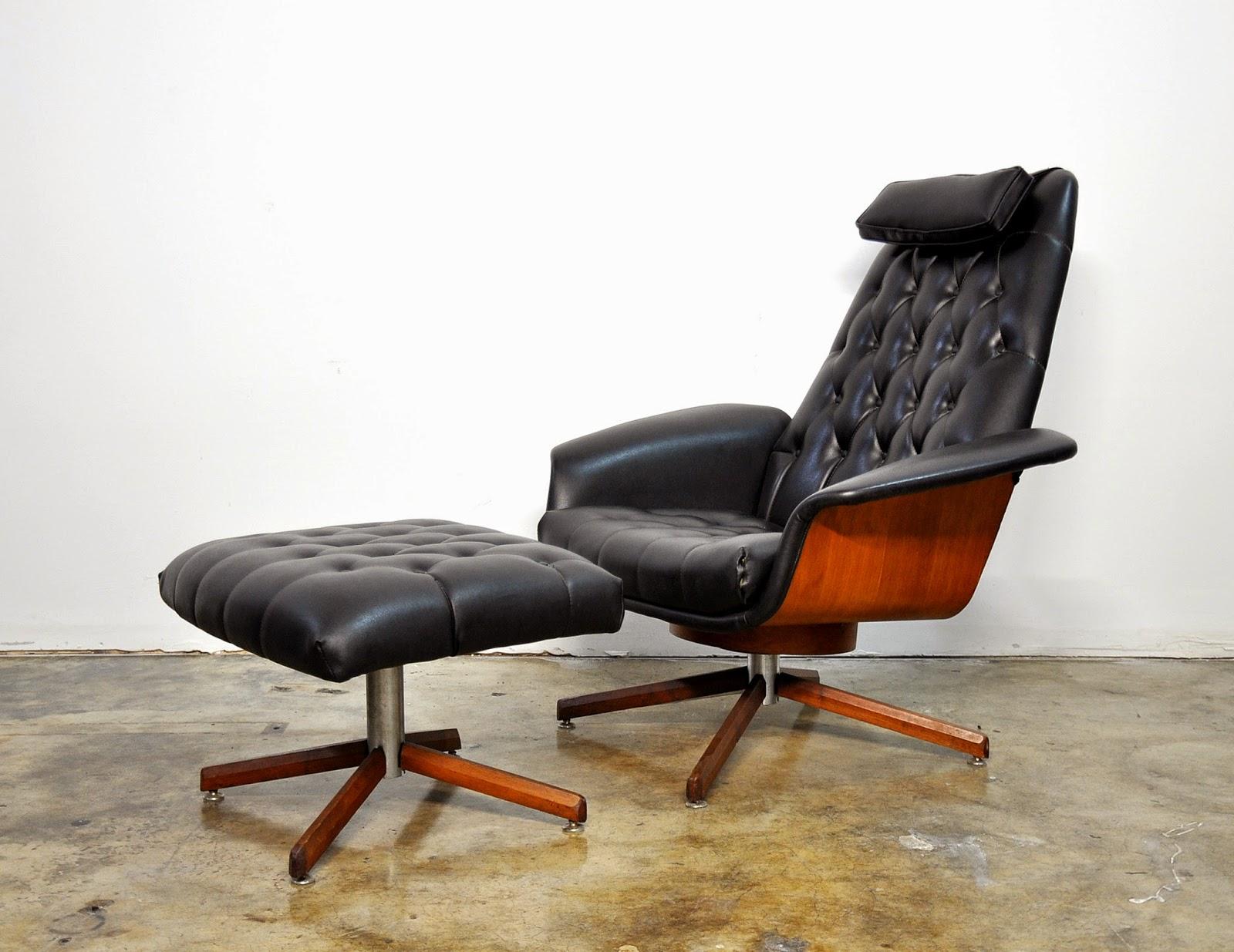 Attirant George Mulhauser Mr. Chair U0026 Ottoman