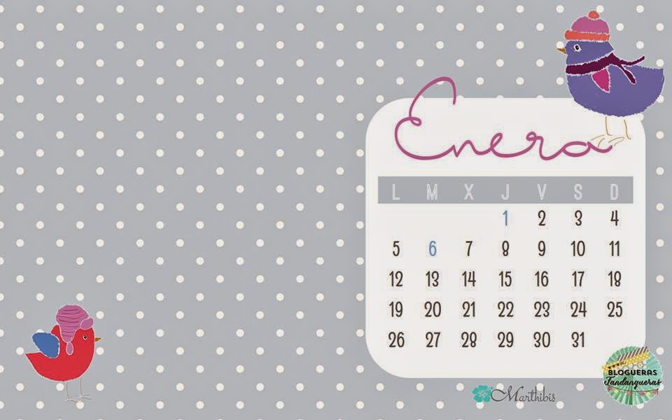 calendario de Enero siete