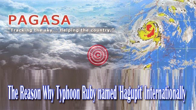 The Reason Why Typhoon Ruby named 'Hagupit' Internationally