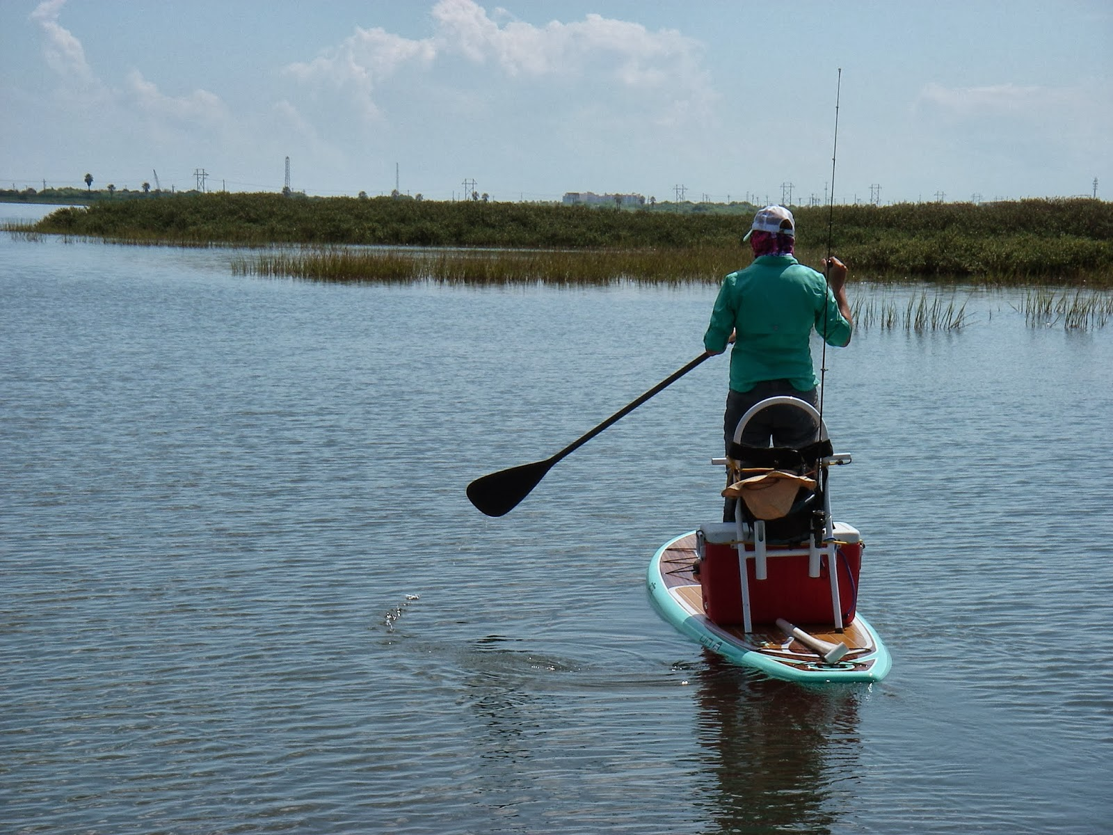 Fire fly fisherman texas coast paddleboard fishing for Paddleboard for fishing