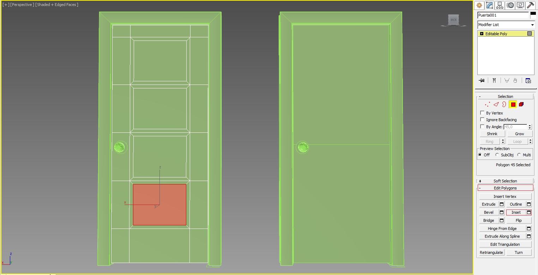 Interiores y 3D: (10) 3D Studio Max: puerta maciza y con cristal