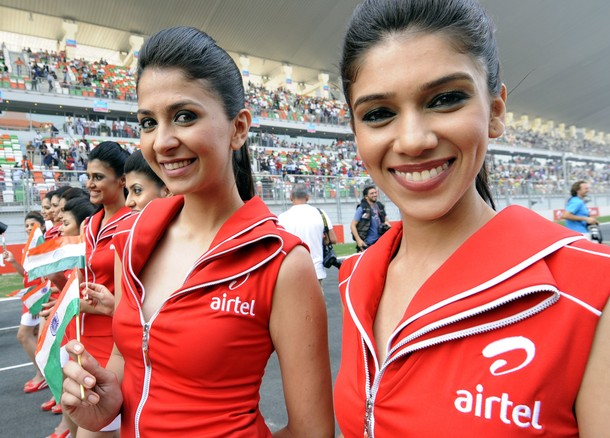 2012 AIRTEL INDIAN F1 GRAND PRIX - F1  GRID GIRLS [ CLICK FOR LARGER IMAGE ]