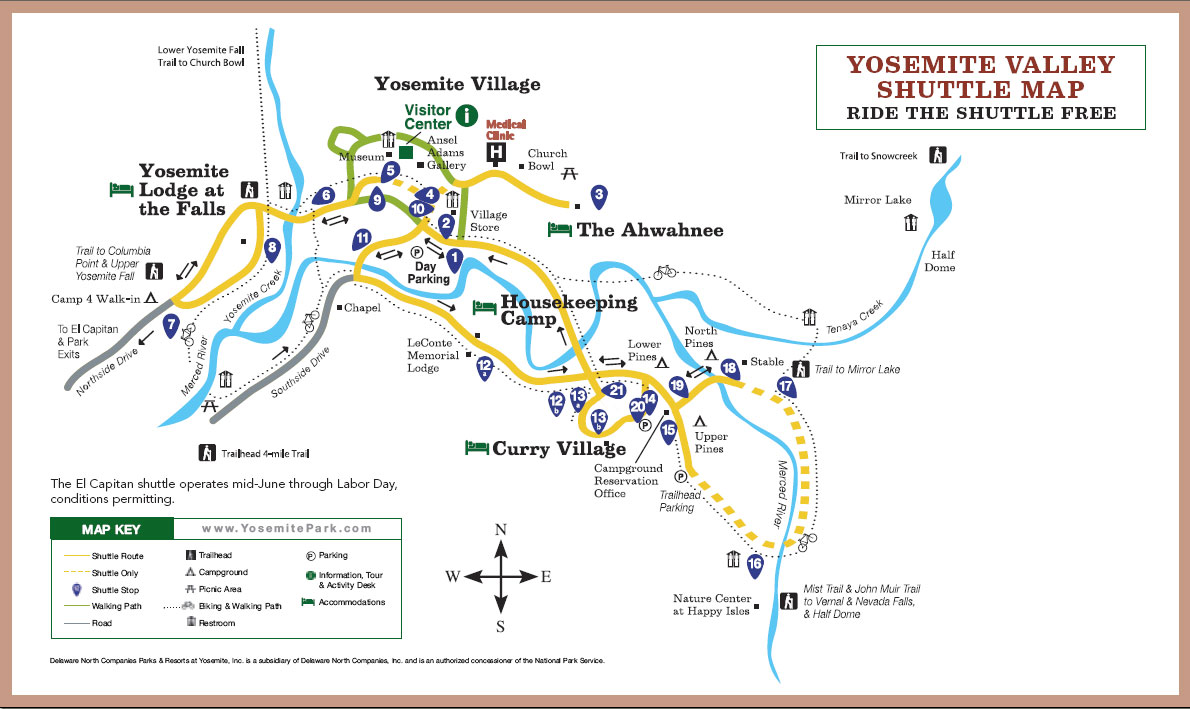 yosemite national park shuttle map with Yosemite National Park on Yosemite National Park moreover California also Yosemite C ing moreover Sequoia national park road map besides Half dome 018.