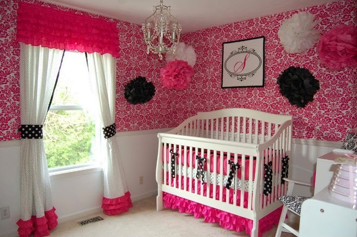 Top nursery wall paint color ideas for 2015 for Baby girl bedroom decoration