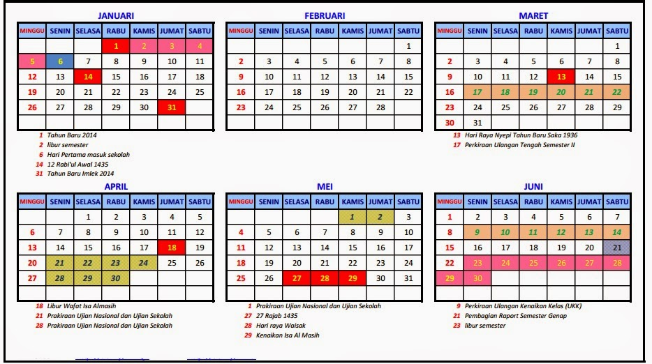 Kalender 2016 Indonesia | My Calendar Template Collection