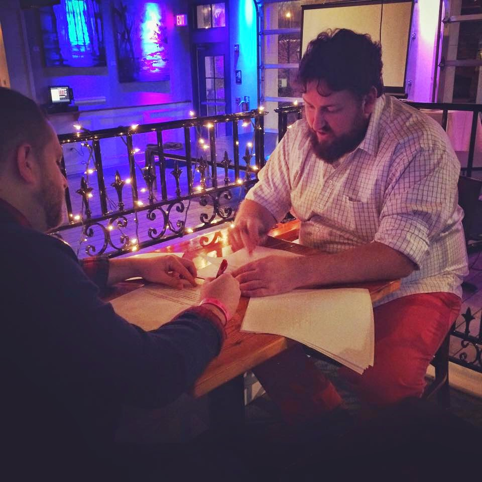 Jay and Logan go over the script for the SoMes