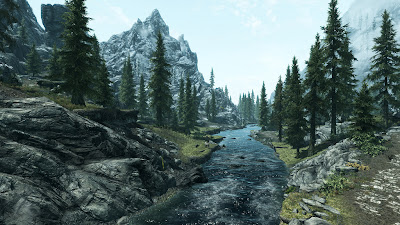 a beautiful stream in skyrim