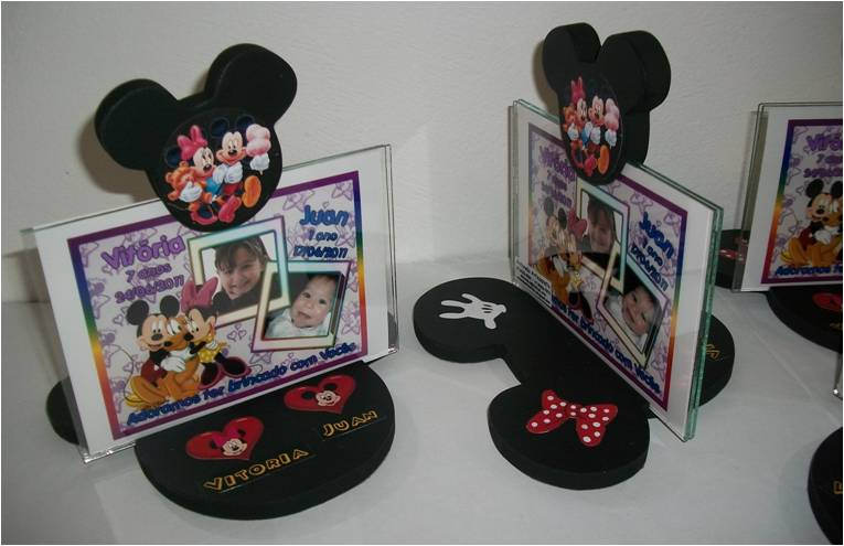 Porta Retrato Mickey Minnie
