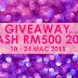 Giveaway Cash RM500 2015 by Emas Putih .