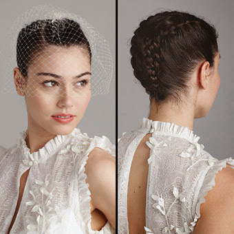 French Braid Updo wedding hair