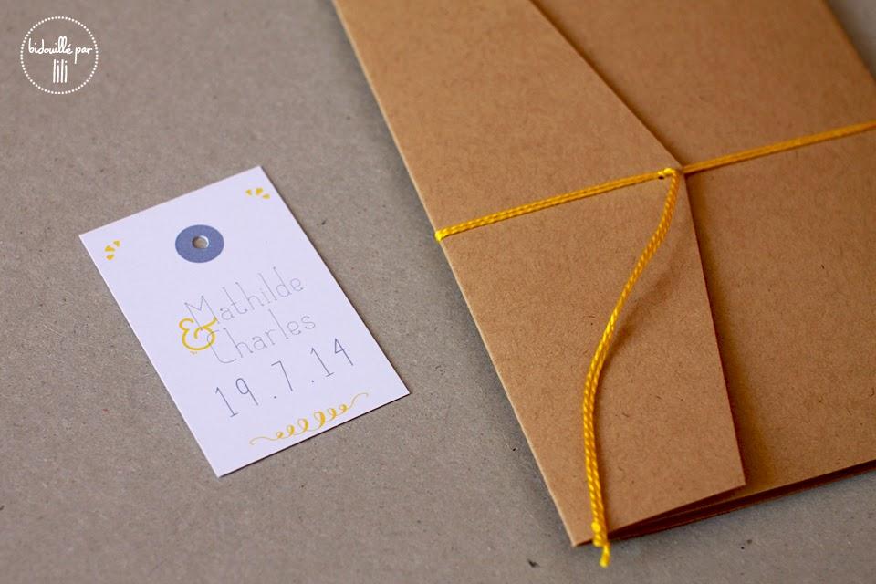 bidouill par lili du c t de l 39 atelier leur joli jour 7 faire part kraft citron. Black Bedroom Furniture Sets. Home Design Ideas