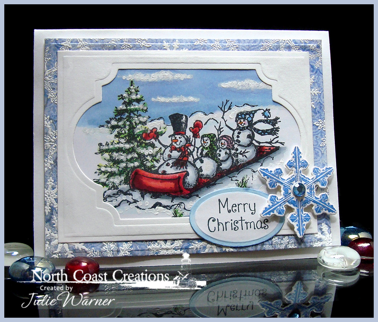 Stamps - North Coast Creations Snowman Family, Our Daily Bread Designs Christian Faith Paper Collection, Our Daily Bread Designs Sparkling Snowflakes, Our Daily Bread Designs Custom Snowflake Dies