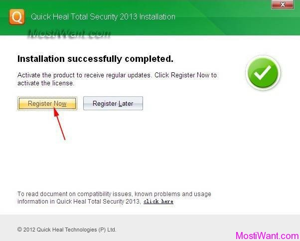 quick heal total security registration key free
