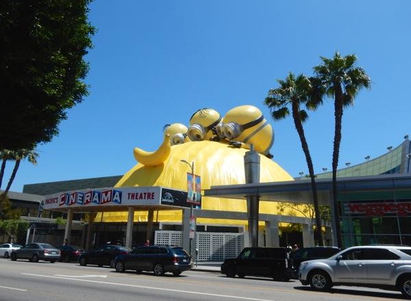Special Minions Cinerama Dome installation