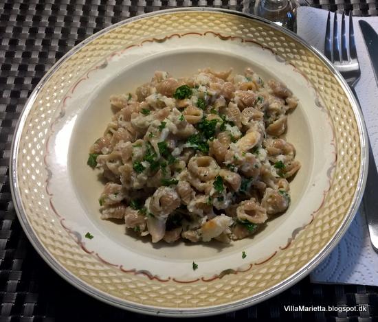 Krabbe med chili pasta