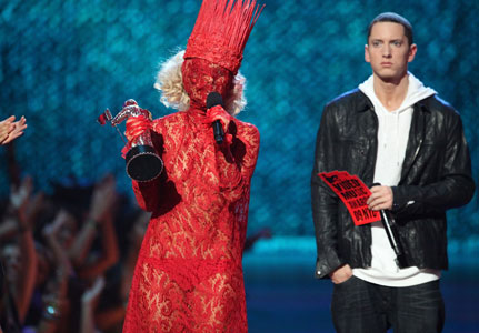eminem lady gaga. beating out Lady Gaga by
