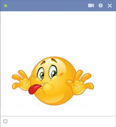 Tongue Out Facebook Smiley