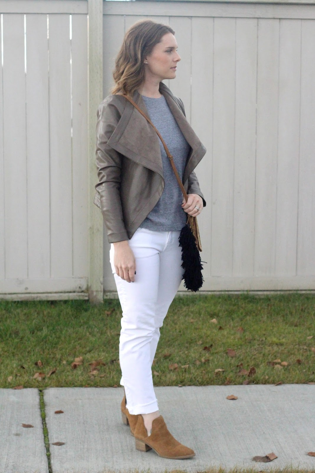 white denim and boots