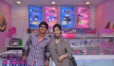 manisha koirala launches new baskin robbins store actress pics