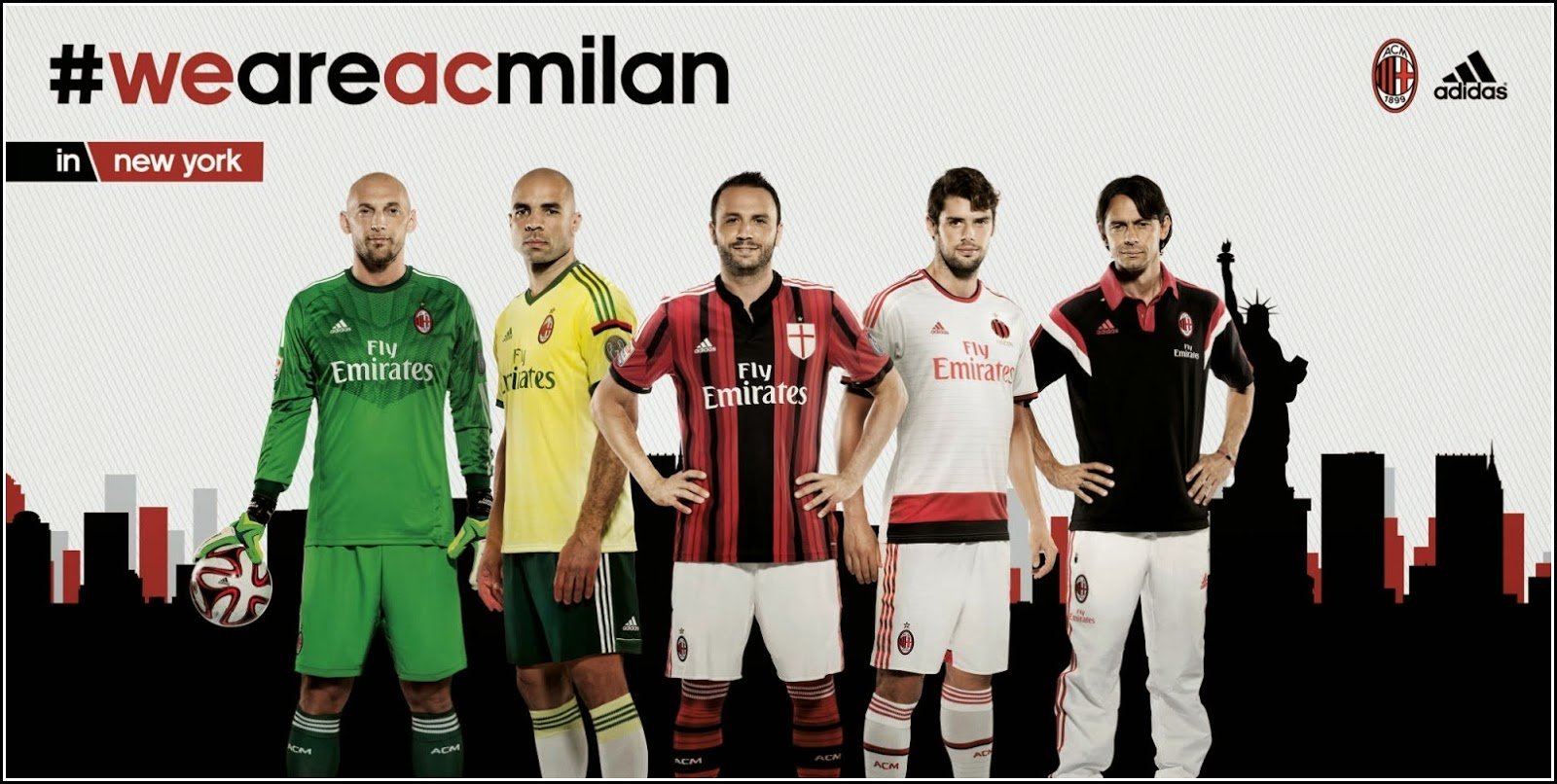 Wallpaper Ac Milan 2015 - Christian Abbiati, Alex Rodrigo Dias da Costa, Giampaolo Pazzini, Andrea Poli, Filippo Inzaghi