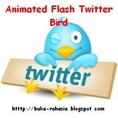 widget follow twitter animated flash blogger