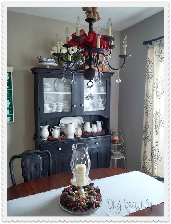 hang crystals or ornaments from light fixture DIY beautify blog