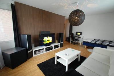 Desain ruang TV sederhana