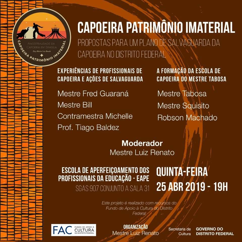"""Homenagem ao Mestre Tabosa no Evento """"Capoeira Patrimônio Imaterial"""""""