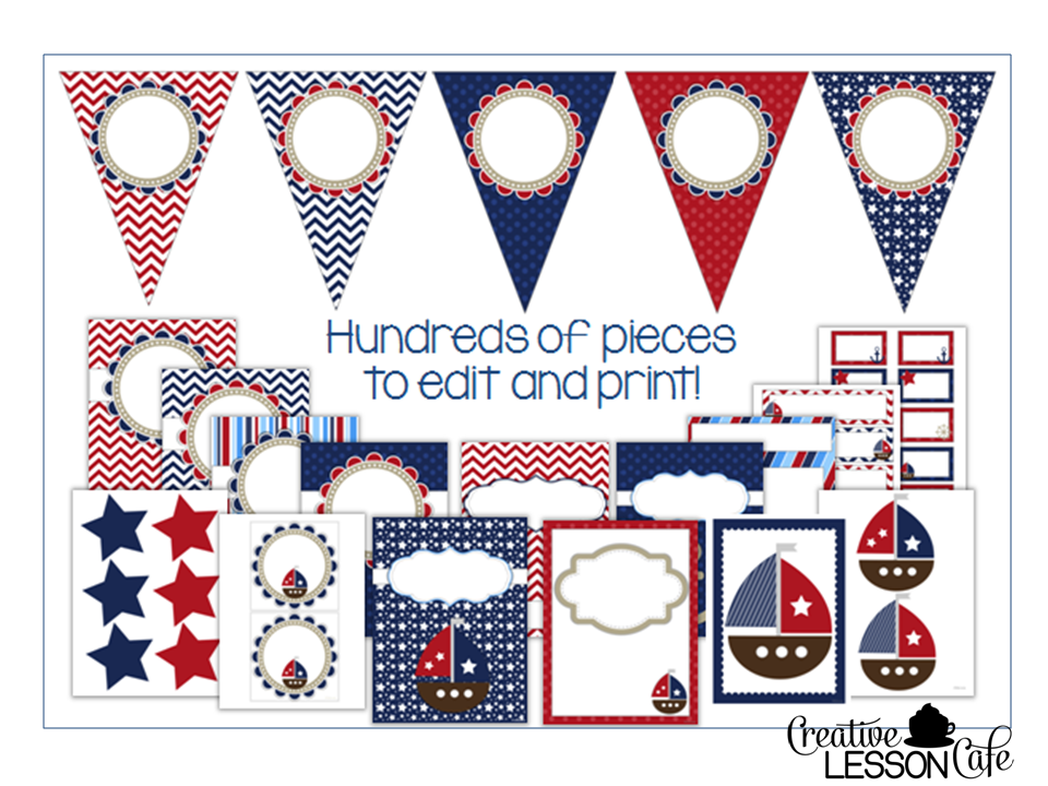 Classroom Decor Nautical ~ Creative lesson cafe nautical classroom decor set and