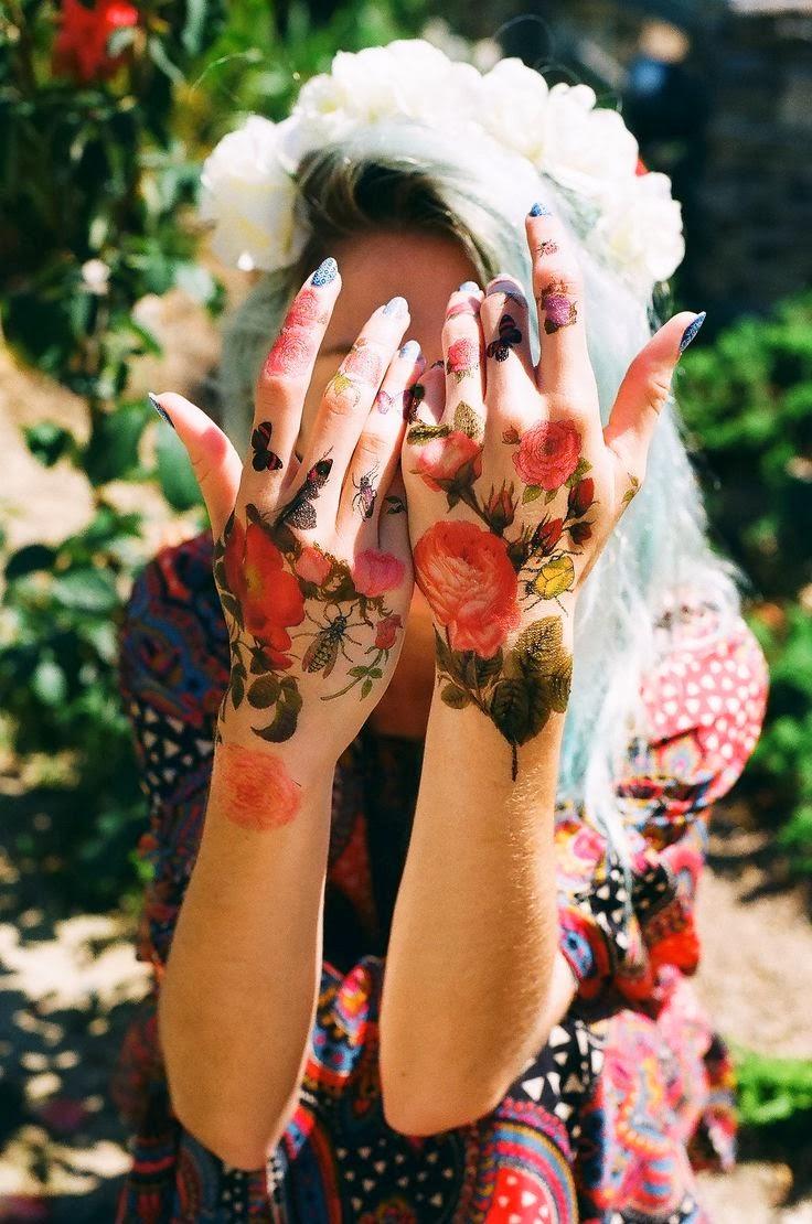 Hand Watercolour Rose Tattoo