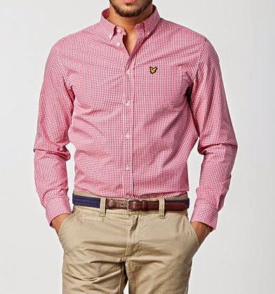 różowa męska koszula