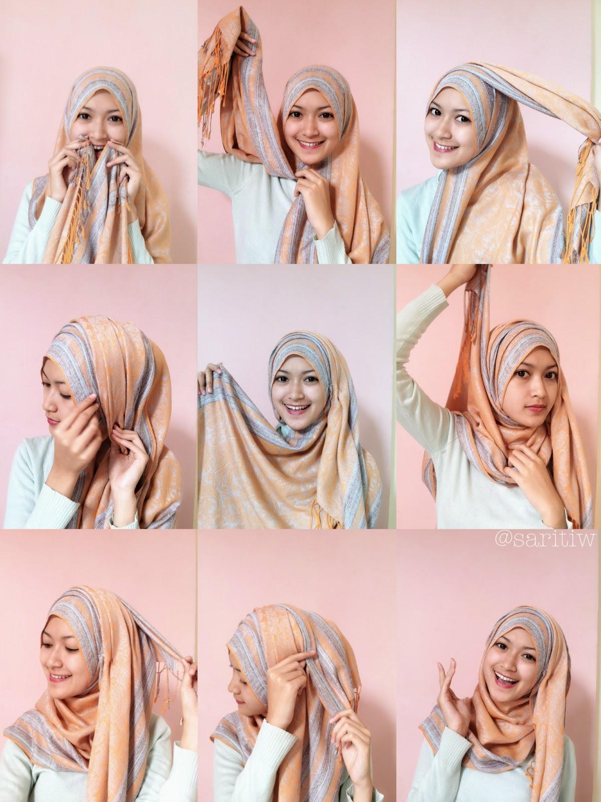 Assalamualaikum Tutorial Hijab Pashmina Kasmir