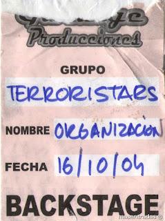 pase backstage de terroristars