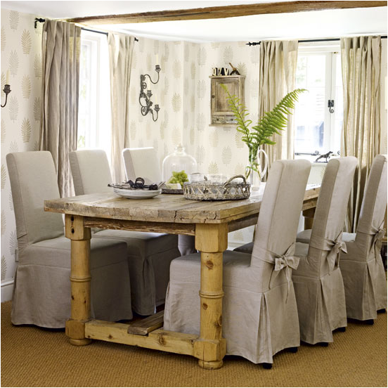 Key interiors by shinay country dining room design ideas for Pictures of decorated dining room tables
