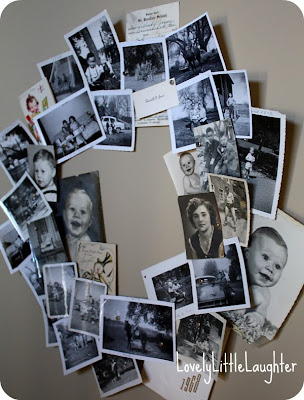 magnetic photo wreath
