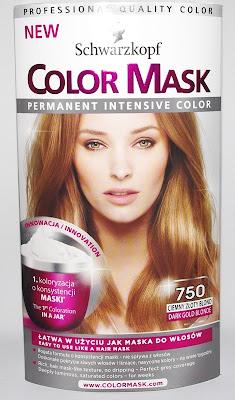 Schwarzkopf Color Mask 750 Ciemny Złoty Blond